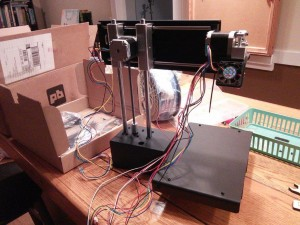 Fused Filament Fabrication (FFF or FDM) printer that Chris Hebb built now at the makerspace
