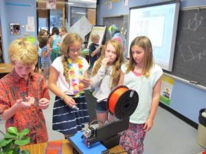 Printrbot 3D printer in classroom