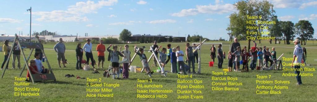 Water Ballon Challenge Teams