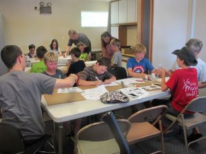 The June 20th Castlemakers Kids build project was paper automata.