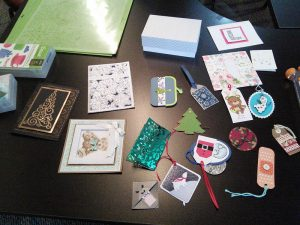Examples of items made with an electronic cutter.