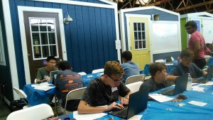 Greencastle Coders work on Python in the Individual Challenge
